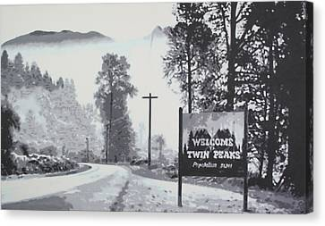Welcome To Twin Peaks Canvas Print by Ludzska