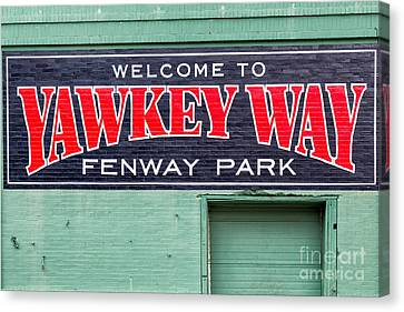 Welcome To Yawkey Way Canvas Print by Dawna  Moore Photography