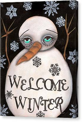 Welcome Winter Canvas Print by  Abril Andrade Griffith