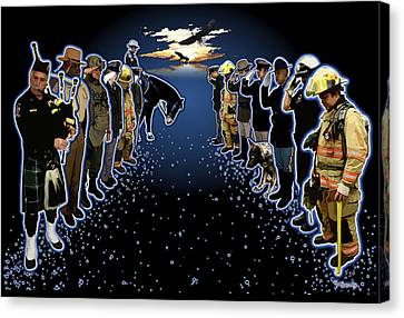 Welcoming The Fallen Canvas Print by Rose Borisow