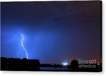 The Lightning Man Canvas Print - Weld County Looking East From County Line Co by James BO  Insogna