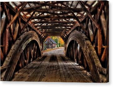 Maine Barns Canvas Print - We'll Cross That Bridge by Expressive Landscapes Fine Art Photography by Thom