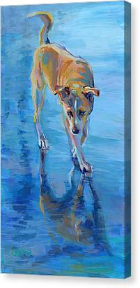Well Hello Gorgeous Canvas Print by Kimberly Santini