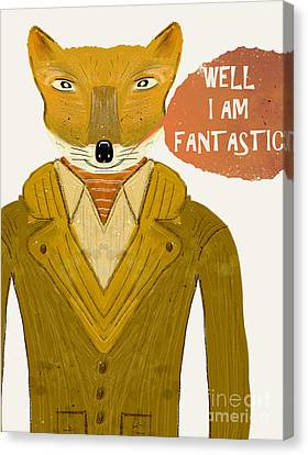 Canvas Print featuring the painting Well I Am Fantastic by Bri B