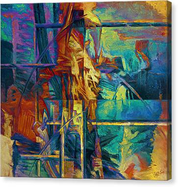 Subsoil Canvas Print - Well.gold Bar by Yury Fomichev