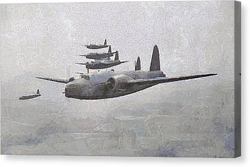 Raf Canvas Print - Wellington Bombers Wwii by Esoterica Art Agency