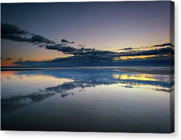 Wells Beach Reflections Canvas Print