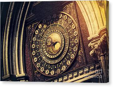 Wells Cathedral Astronomical Clock  Canvas Print by Tim Gainey