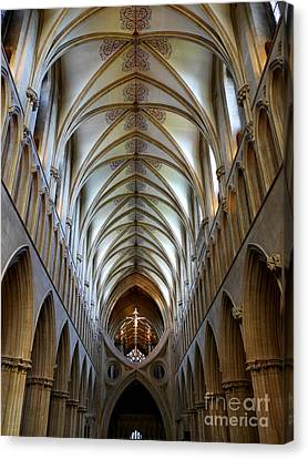 Wells Cathedral Ceiling  Canvas Print