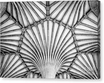 Wells Cathedral Chapter House Vaulted Ceiling Canvas Print