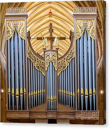 Canvas Print featuring the photograph Wells Cathedral Organ by Colin Rayner