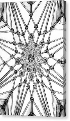 Canvas Print featuring the photograph Wells Cathedral Lady Chapel Ceiling by Tim Gainey
