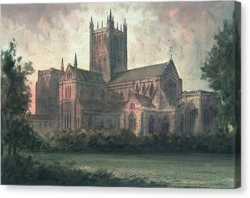 Wells Cathedral Canvas Print by Paul Braddon