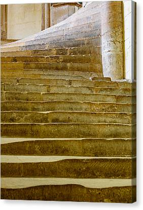 Canvas Print featuring the photograph Wells Cathedral Steps by Colin Rayner