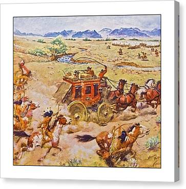 Wells Fargo Express Old Western Canvas Print