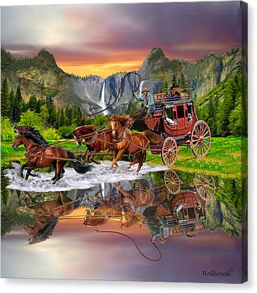 Wells Fargo Stagecoach Canvas Print by Glenn Holbrook