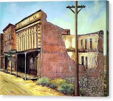 Wells Fargo Virginia City Nevada Canvas Print by Evelyne Boynton Grierson