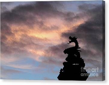 Welsh Dragon At Sunset 1 Canvas Print by James Brunker