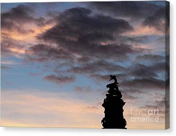 Welsh Dragon At Sunset 2 Canvas Print by James Brunker