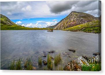 Cwm Idwal Canvas Print - Welsh Mountain by Adrian Evans