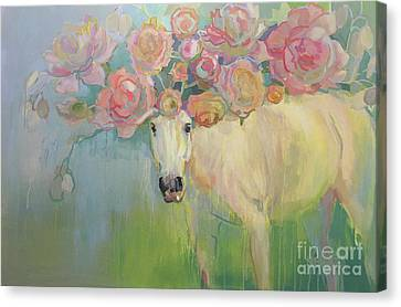 Equine Pastels Canvas Print - Welsh P-e-ony by Kimberly Santini