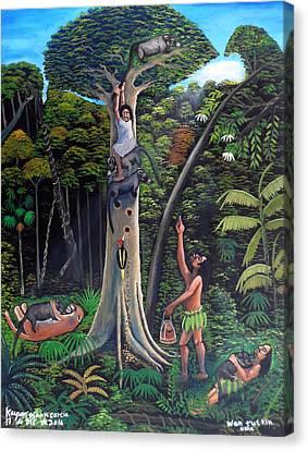 Man Of The Wild Canvas Print