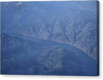 Lake Chelan Canvas Print - Wenatchee National Forest From Above by Dan Sproul