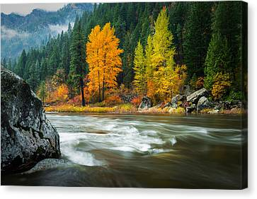 Canvas Print featuring the photograph Wenatchee Riverside by Dan Mihai