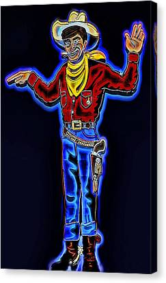 Caricature Cowboy Canvas Print - Wendover Will Signage by Steve Ohlsen