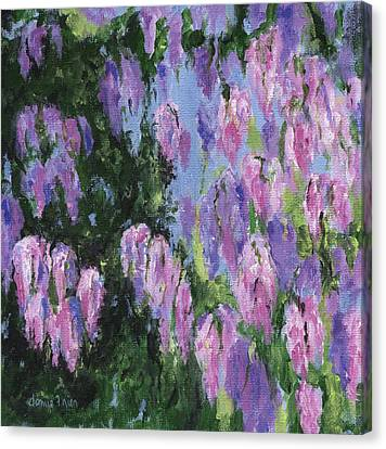 Canvas Print featuring the painting Wendy's Wisteria by Jamie Frier