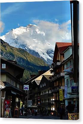 Wengen Canvas Print - Wengen Alps by David Powell