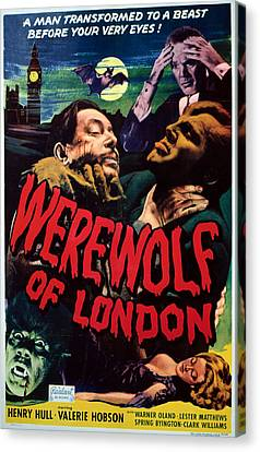 Horror Fantasy Movies Canvas Print - Werewolf Of London, Warner Oland, Henry by Everett