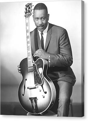 Guitar Canvas Print - Wes Montgomery, Early 1960s by Everett