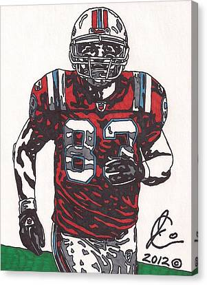 Wes Welker Canvas Print by Jeremiah Colley