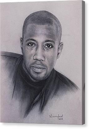 Wesley Snipes Canvas Print by Nanybel Salazar