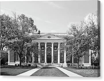 Wesleyan University Olin Library Canvas Print by University Icons