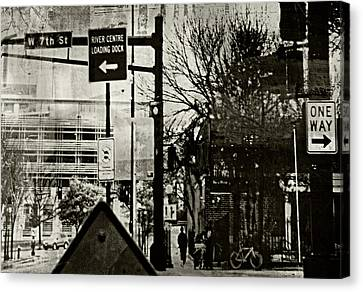 Canvas Print featuring the photograph West 7th Street by Susan Stone