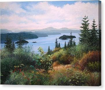 West Coast Harbor Canvas Print