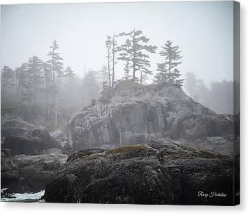 West Coast Landscape Ocean Fog IIi Canvas Print by Roxy Hurtubise
