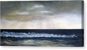 Sun Rays Canvas Print - West Coast by Victoria Heryet