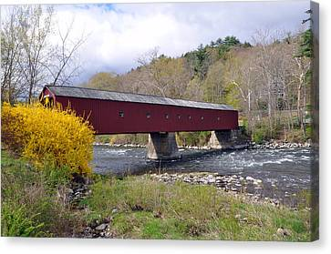 West Cornwall Ct Covered Bridge Canvas Print
