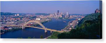 West End Bridge At The Three Rivers Canvas Print by Panoramic Images