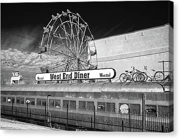 Canvas Print featuring the photograph West End Diner by James Barber