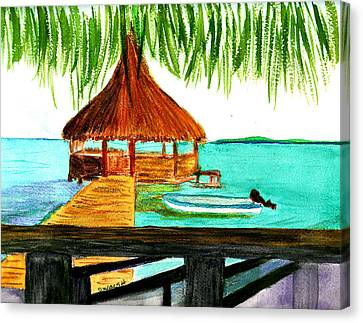 West End Roatan Canvas Print by Donna Walsh