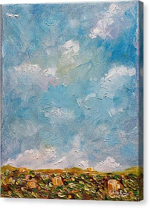 Canvas Print featuring the painting West Field Seedlings by Judith Rhue
