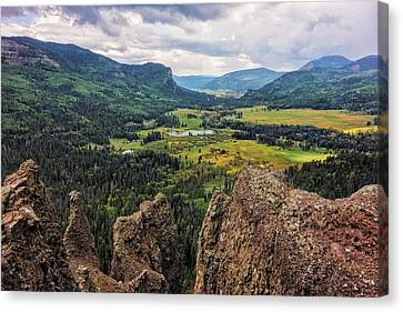 West Fork Valley View Canvas Print by Loree Johnson