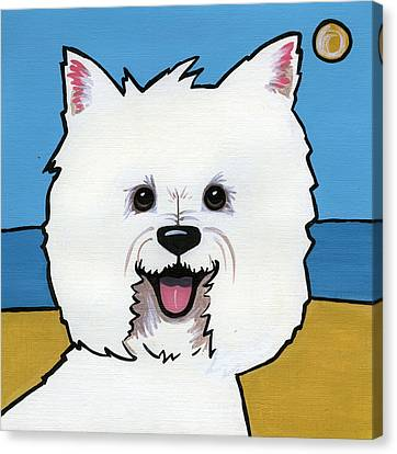 West Highland Terrier Canvas Print by Leanne Wilkes