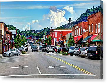 West Jefferson Streetscape Canvas Print by Dale R Carlson