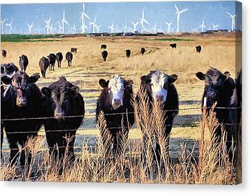 Canvas Print featuring the digital art West Kansas Economics by JC Findley