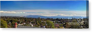 West La And Catalina Island From Pacific Palisades Canvas Print